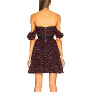 Self-Portrait Dresses - Self Portrait Plumetis Off Shoulder Dress